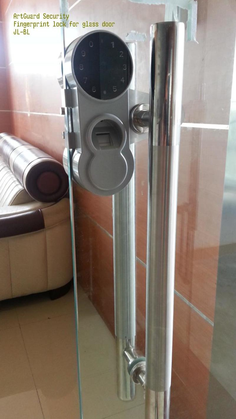 Fingerprint lock for glass and cabinet door